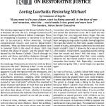 Friends Committee on Restorative Justice – Loving LawSuits: Restoring Michael
